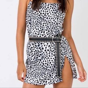 Leopard motel dress